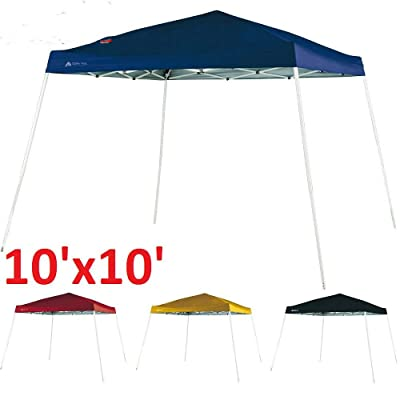 Instant Slant Leg Canopy Tent Camping Hiking Backyard Outdoor Shelter 10x10' TkPrime (Tawny) : Garden & Outdoor