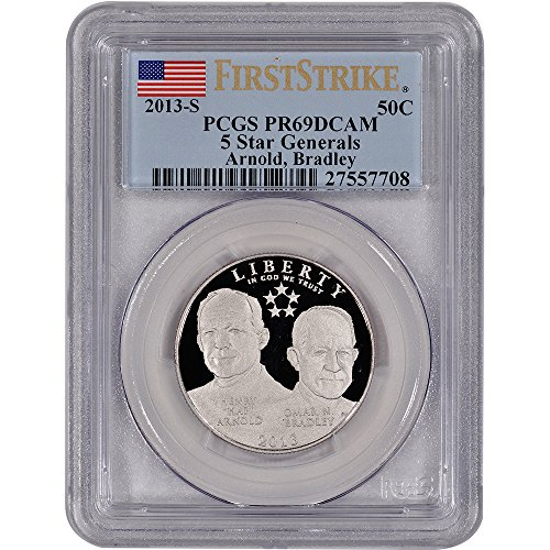 2013 S US 5-Star Generals Commemorative Proof 50C PR69 First Strike PCGS