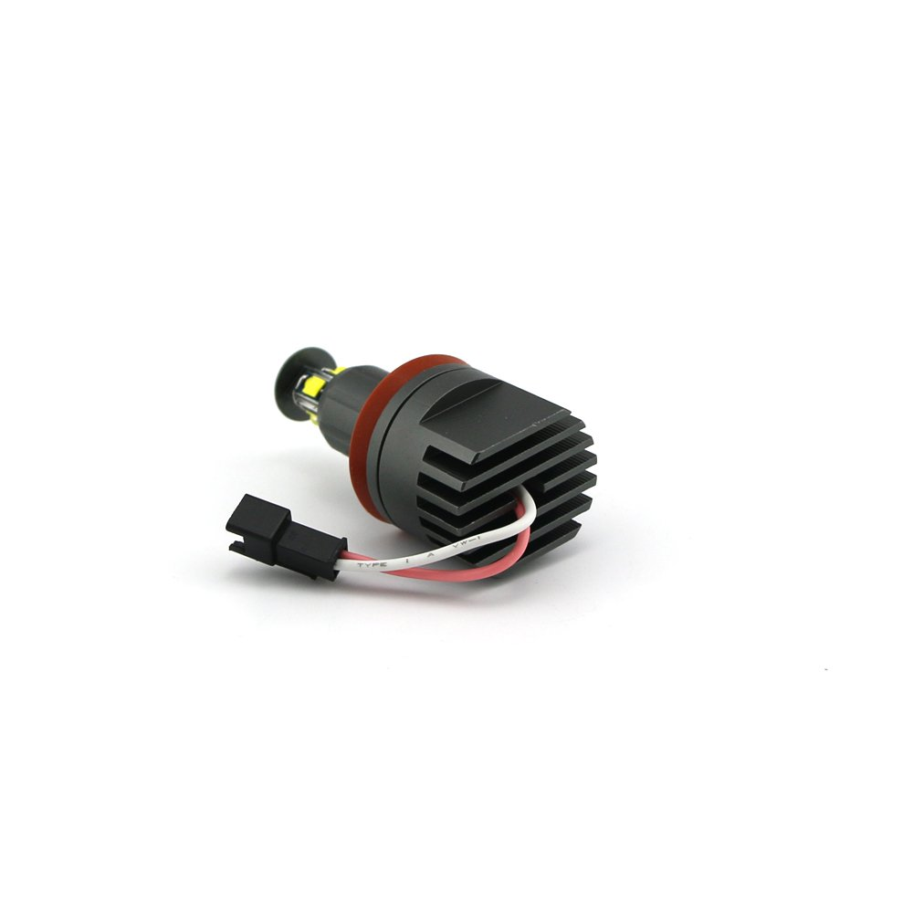 Angel Eyes E60 ZXREEK 2x 7W Led Halo Ring Spot Headlight Marker Lights 6500K White For E39 E53 E60 E63 E64 E65 E66 E83 5 6 7 Series X3 X5