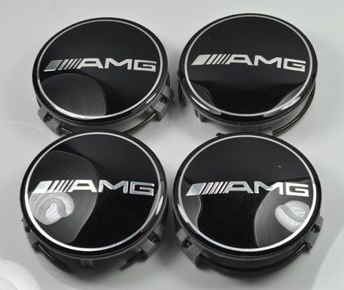 Mercedes benz amg wheel center cap set 4pcs 74mm in the for Mercedes benz hub caps