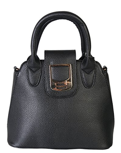 Diophy PU Leather Small Satchel Top Handle Womens Purse Handbag Accented with Removable Strap SZ-3237 XB-2344 XB-2340 XB-2341 BW-1611 OS-3312 (XB-2341 (Discount Designer Bags)