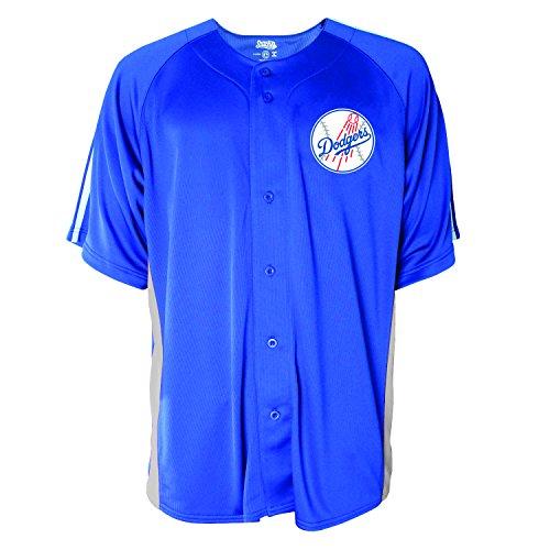 MLB Los Angeles Dodgers Men's Button Down Fashion Jersey, Royal, Medium