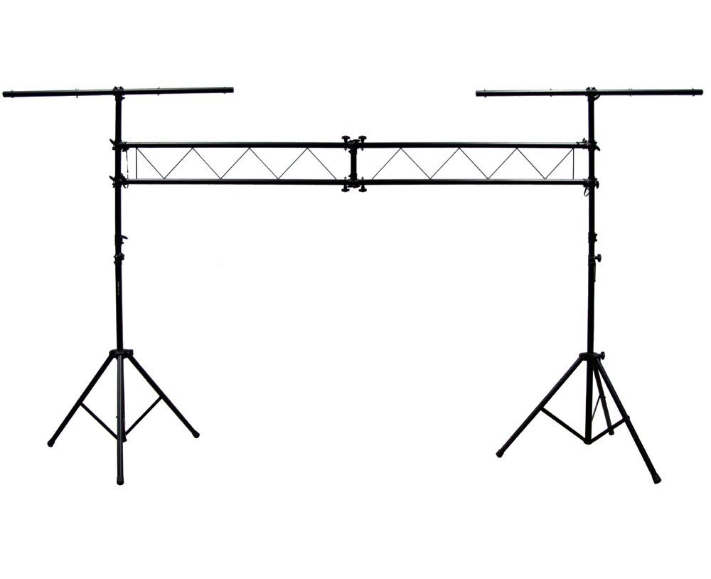 ASC Pro Audio Mobile DJ Light Stand 10 Foot Length Portable Truss Lighting System with T-Bar by American Sound Connection