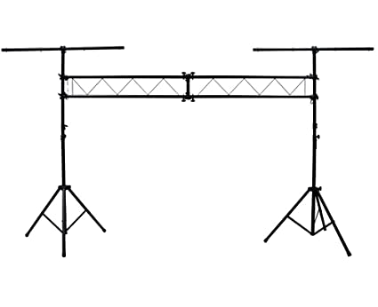 ASC Pro Audio Mobile DJ Light Stand 10 Foot Length Portable Truss Lighting System With T