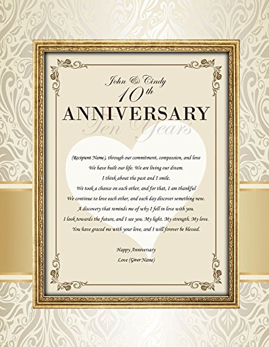 Amazoncom Happy Anniversary Personalized 11x14 Unframed Matted