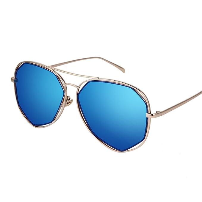 Gafas de sol de polígono irregular/Gafas de sol/Espejo de ...