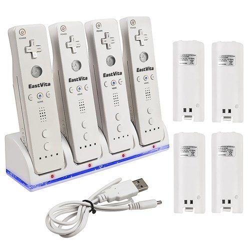 EastVita New Charger Dock + 4 x Battery for Nintendo Wii Remote - coolthings.us