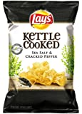 Lay's Kettle Cooked Potato Chips, Sea Salt and Cracked Pepper, 8.5 Ounce