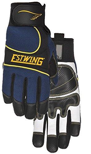 (Estwing EST7795XL Premium Hi-Dexterity Work Glove Aramid Fiber Stitching White/Black Goatskin Re-Reinforced Palm, X-Large Blue)