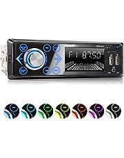 XOMAX XM-R272 autoradio met Bluetooth handsfreesysteem I Laden van mobiele telefoons via 2e USB-poort I 7 LED-kleuren instelbaar I USB, SD, MP3, AUX I 1 DIN
