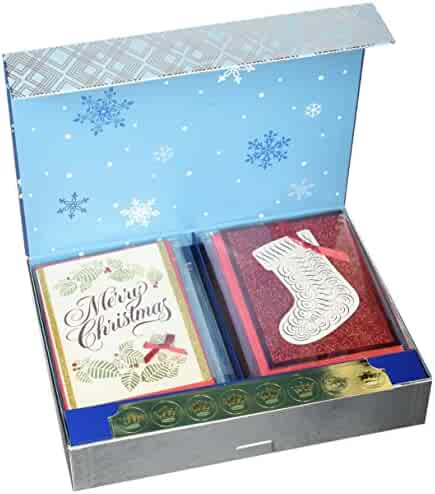 Hallmark Assorted Christmas Boxed Cards Set (Pack of 24 Handmade Holiday Cards with Envelopes)