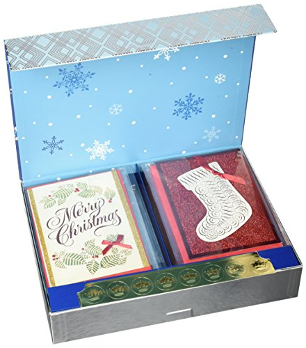Hallmark Christmas Handmade Boxed Assorted Greeting Cards Set (Pack of 24) - Holiday Card Assortment Boxset with Envelopes