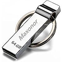 Maxonor Thumb USB Flash drive 2TB - Silver with Keychain Design USB Storage (2TB)