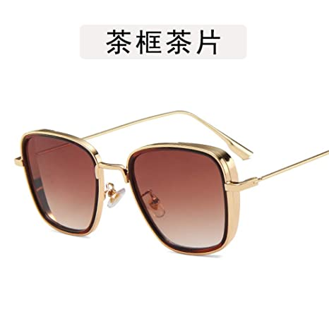 Yangjing-hl Caja Grande Caja ahuecada Gafas de Sol de Personalidad ...