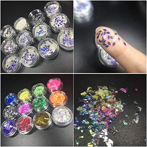 UV Epoxy Resin Jewelry Kit Cristal Non-Toxic, 3 Epoxy + 11 Molds 31 Shapes + 100 Rings + 12 Dried Flowers + 12 Coral Flowers + 12 Glassines + 12 Holographic Paper + 12 Glitters Pigment Powder