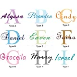 PopDecors Wall Decals & Stickers - Personalized Name Decal - Free Squeegee and Color Change -Baby Nursery Monogram Wall Decal Art