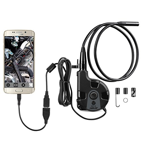 UPC 603161062155, Jetery Endoscope Inspection Camera HD 6LED Borescope Camera Video Inspection Camera OTG Function 2Mega Pixels 720P 8.5mm Diameter IP67 Waterproof Tube