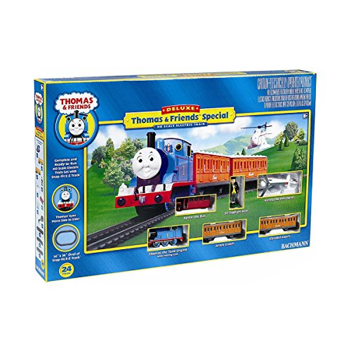 Bachmann Trains Deluxe Thomas & Friends Special Kids Train Set + Track | 644-BT - Deluxe Thomas Set