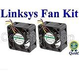 Cisco LS-SGE2010-FANKIT / Linksys SGE2010 FAN KIT, 2x New Quiet Sunon MagLev Fans 12dBA Noise Level