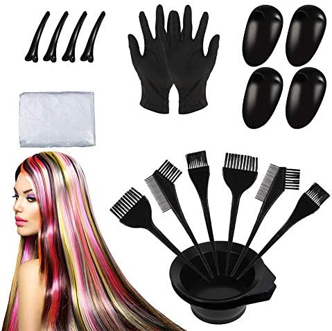 Juego de 22 tintes de pelo de Fuyamp, kit de herramientas de ...