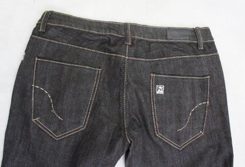 DCOD Damen Jeanshose Schwarz Charcoal / Black