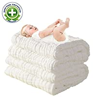 LOVE MY★ Natural Antibacterial,Super Water Absorbent,Super Soft Muslin Cotton...