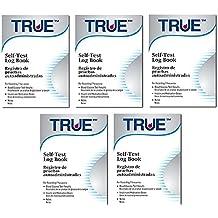 True Blood Glucose Monitoring Log Books, Pack of 5