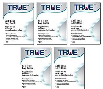 amazon com true blood glucose monitoring log books pack of 5
