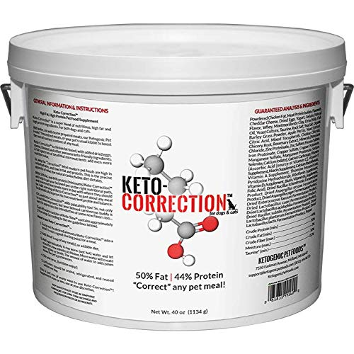 Ketogenic Pet Foods - Keto-Correction - High Fat, High Protein Pet Food Supplement - 40 oz. Canister by Ketogenic Pet Foods