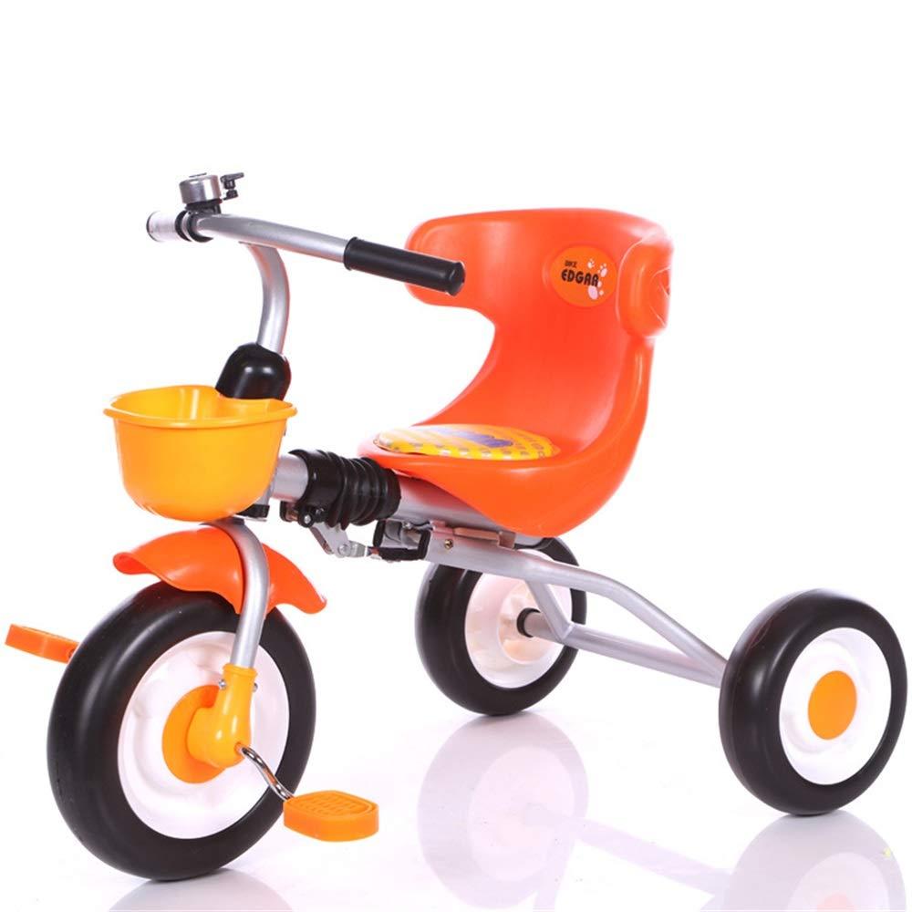 Orange 507035cm NgMik Alter 2 bis 6 Jahre alt Jungen Mädchen Dreirad Kinder Kinderwagen Trike 3 Rad Pedal Fahrrad MultiFarbe Indoor & Outdoor mit Aufbewahrungsbox MultiFarbe Jungen und Mädchen