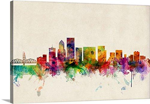 Michael Tompsett Premium Thick-Wrap Canvas Wall Art Print entitled Portland Oregon Skyline 36