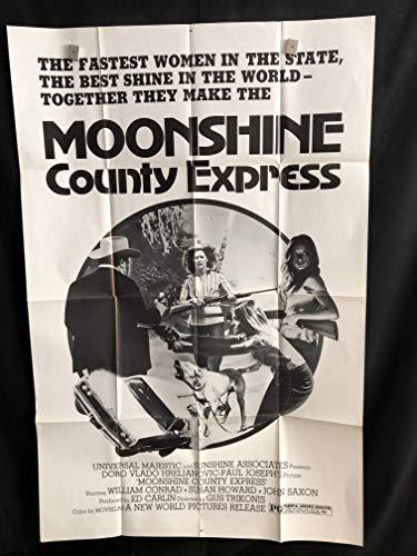 Moonshine County Express 1977 Original Vintage One Sheet Movie Poster, William Conrad, Sexploitation, Redneck, Country, Girls