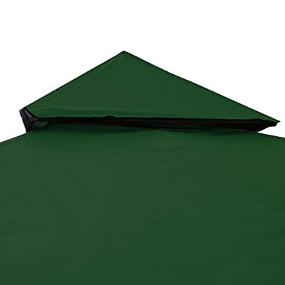 Rantepao - Gazebo Canopy Replacement Top Cover 8' x 8' for Dual Tier Outdoor Patio Garden - Green: Garden & Outdoor