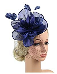 Urban CoCo Women Fashion Fascinator Cocktail Party Hair Clip Hat