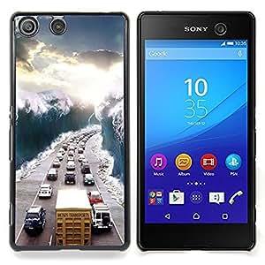 For Sony Xperia M5 E5603 E5606 E5653 Case , Ver Sol Embotellamiento Wave - Diseño Patrón Teléfono Caso Cubierta Case Bumper Duro Protección Case Cover Funda