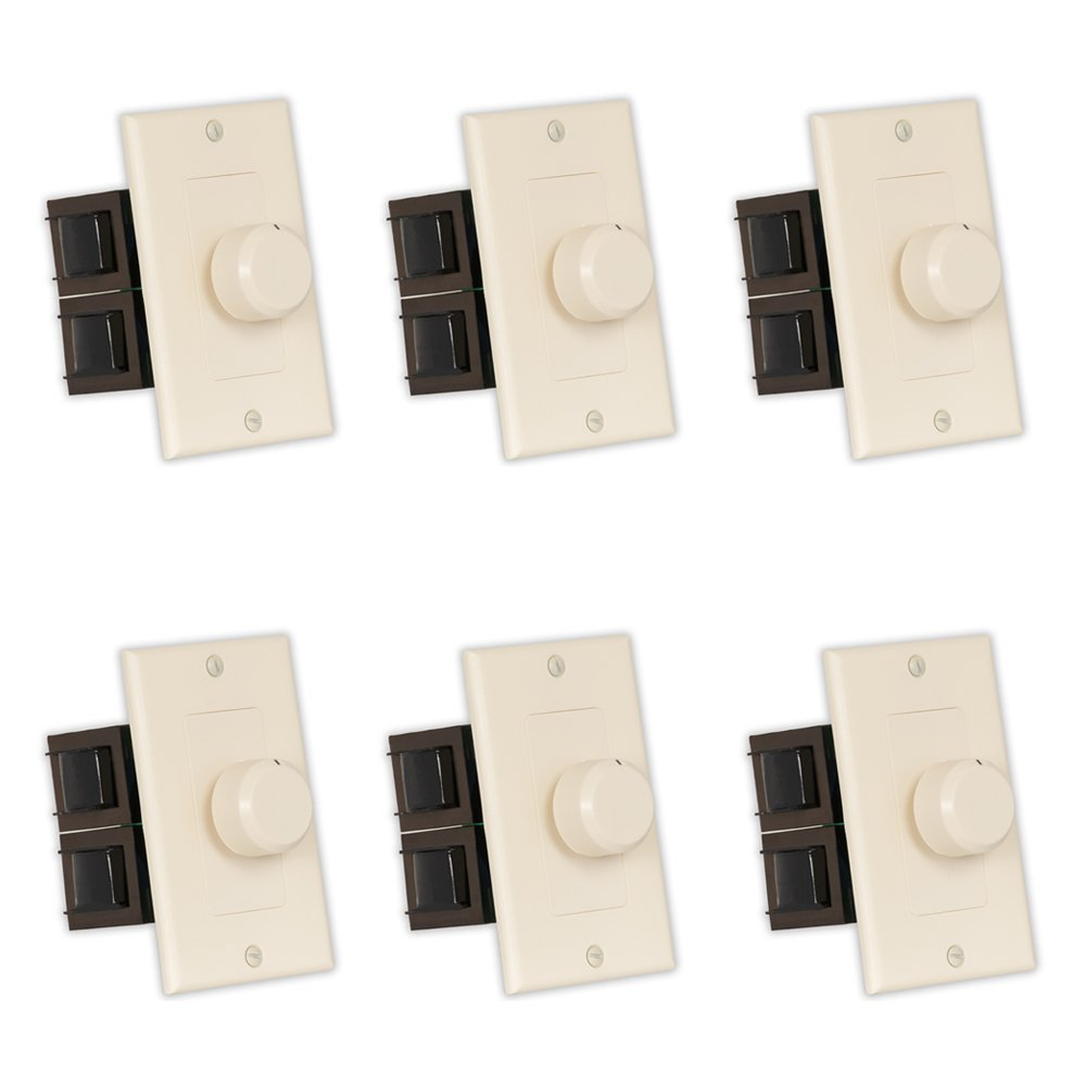 Theater Solutions TSVCD-A Indoor Speaker Volume Controls Almond Dial Audio Switches 6 Piece Pack