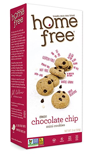 Homefree Treats You Can Trust Gluten Free Mini Cookies, Chocolate Chip, 5-Ounce (Pack of 6)