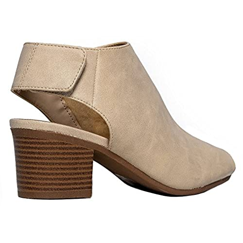 8c5bb36bfb6f3 80%OFF OLIVIA K Women s Peep Toe Bootie - Low Stacked Heel - Ankle Boot