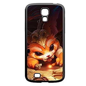 Gnar-001 League of Legends LoL case cover for Samsung Galaxy S4, GT I9500, I9005, I9006 - Rubber Black