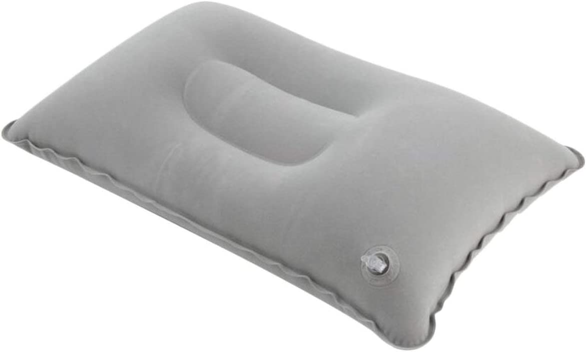 MachinYester Portable Fold Outdoor Travel Sleep Pillow Air Inflatable Cushion Break Rest Comfortable Pillows for Sleep Travel Accessories grey