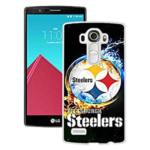 Custom Luxury Cover Case With Pittsburgh Steelers 2 White LG G4 Case