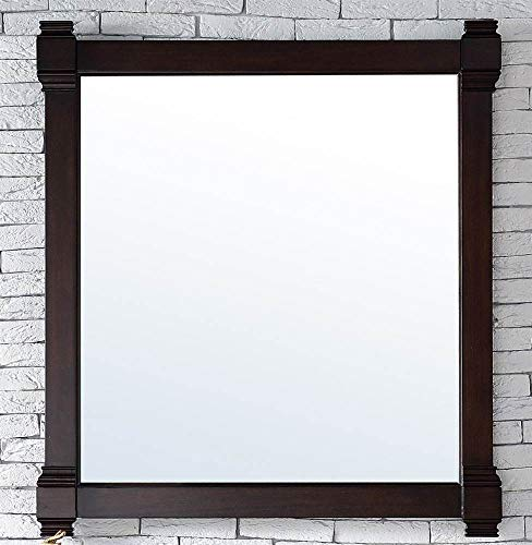 James Martin Vanities 35 in. Mirror in Burnished Mahogany Finish