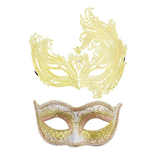 Couples Venetian Masquerade Mask Mardi Gras Masks Set
