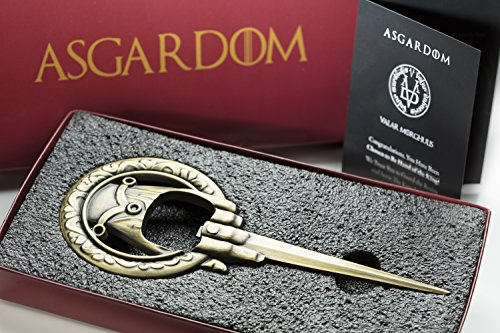 Hand of the King Beer Bottle Opener With Magnet & Gift Box – Fan Merchandise, 3in1 Fridge Magnet, Letter & Bottle Opener – Perfect Christmas Present For Game of Thrones Fans by AEsir Essentials