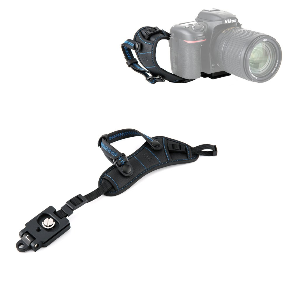 JJC Camera Hand Grip Strap with Arca Type Plate for Canon Rebel T6 T7 T7i T6i SL2 EOS 80D 70D 6D Mark II 7D Mark II EOS 5D Mark IV III Nikon D850 D750 D3400 D3300 D5600 D5300 D7500 D7200 & More DSLRs by JJC