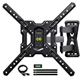 USX MOUNT Full Motion Swivel Articulating Tilt TV Wall Mount Bracket for 26-55' LED, OLED, 4K TVs-Fit for 32, 40, 50 TV with VESA Up to 400x400mm-Weight Capacity Up to 60lbs