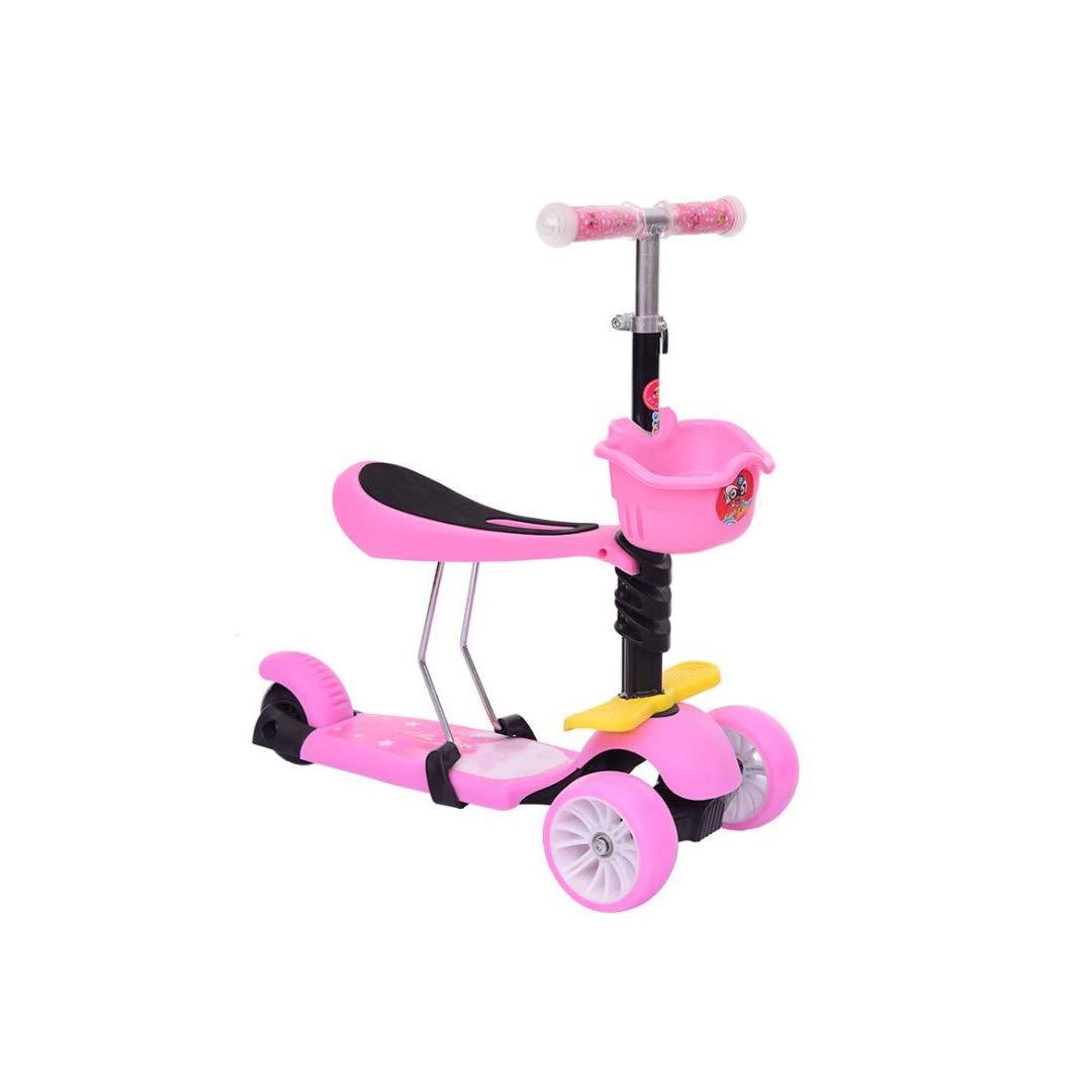 【格安saleスタート】 TLMYDD 多機能子供のスクータースリーインワン拡大輪熱伝達スクータースクーター、60 : x 28 x 80 cm 子供スクーター (色 Pink (色 : Pink) B07NN1DMQ8 Pink, あっさり漬食品:c74f57ac --- a0267596.xsph.ru