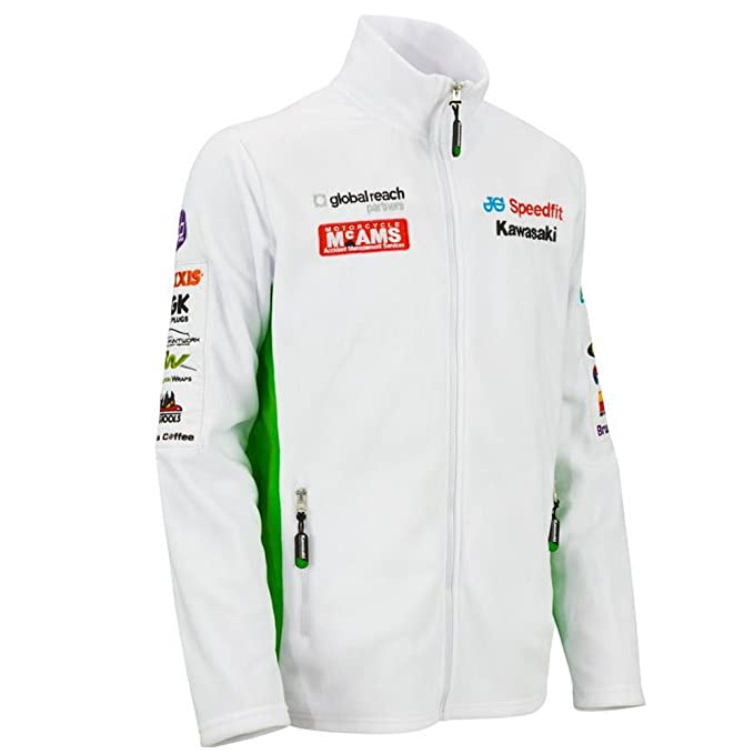 Kawasaki - Chaqueta - para Hombre Blanco Blanco: Amazon.es: Ropa y accesorios