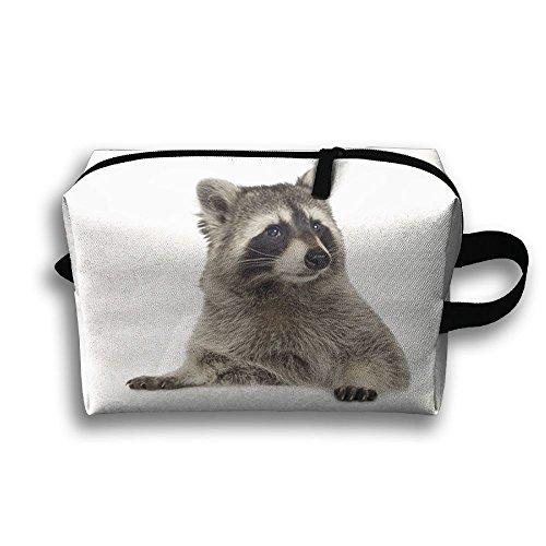 Racoon Travel Cosmetic Case Toiletry Makeup Bag Handbag Organizer Storage Pouch Pencil (Racoon Makeup)