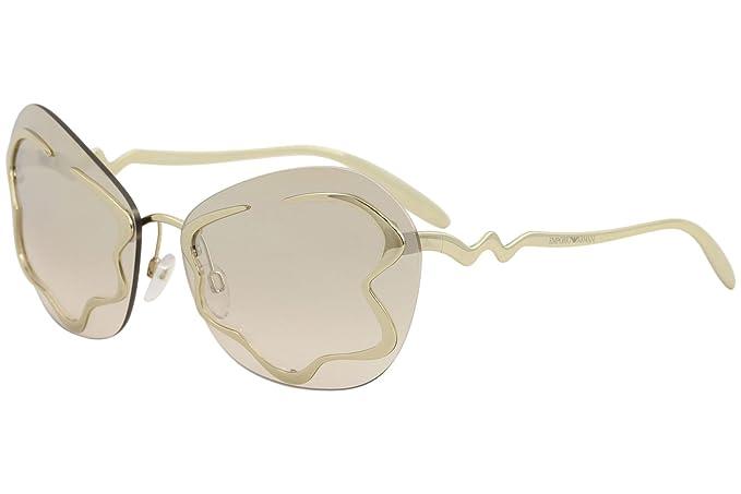 Emporio Armani 0EA2060 30138Z, Gafas de Sol para Mujer, Dorado (Gold/Brown
